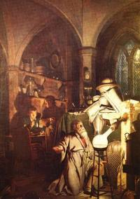 Joseph Wright of Derby (1734-97)The Alchymist in Search of the Philosophers' Stone discovers Phosphorus