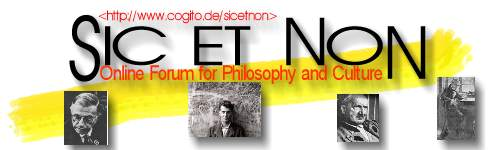 SIC ET NON - Online Forum for Philosophy and Culture